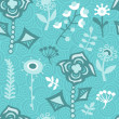 Seamless floral pattern.Endless texture with flowers. — Vektorgrafik