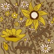 Seamless floral pattern.Endless texture with flowers. — Stock vektor