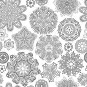 Textura sem costura ornado de flores, padrão sem fim — Vetor de Stock