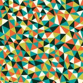 Naadloze textuur met driehoeken, eindeloze mozaïek patroon — Stockvector