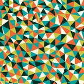 Seamless texture with triangles, mosaic endless pattern — Vector de stock