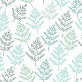 Fir tree branch seamless texture, endless pattern — Stok Vektör