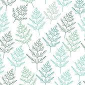 Fir tree branch seamless texture, endless pattern — Stock Vector