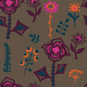 Seamless floral pattern.Endless texture with flowers. — Stock Vector
