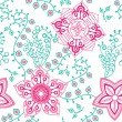 Seamless texture with flowers. Endless floral pattern. — Stock Vector