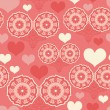 Romantic seamless pattern with hearts — Image vectorielle