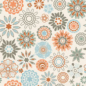 Floral seamless pattern, endless texture. — Stock Vector