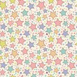 Colorful stars seamless pattern - Stok Vektör