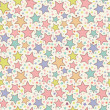 Colorful stars seamless pattern - Image vectorielle