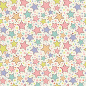 Seamless pattern di stelle colorate — Vettoriale Stock