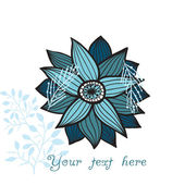 Ornate flower, floral background with place for you text — Stockvector