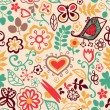 Romantic seamless pattern — Stok Vektör