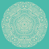 Ornamental round lace pattern, circle background with many detai — Vecteur