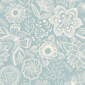Tekstura z kwiatów i motyli. niekończące się kwiatowy pa — Wektor stockowy