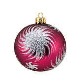Crimson Sphere Christmas Decoration — Stock Photo
