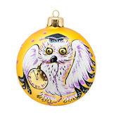 Christmas Decoration with Owl — Stock Photo