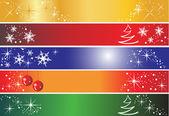 5 Christmas banners — Stock Vector