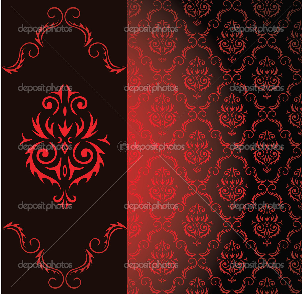 Seamless background from a floral ornament   Stock Vector #6904752