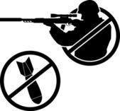 No a la guerra. plantilla — Vector de stock
