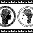 Profiles of roman woman — Stock Vector