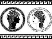 Profiles of roman woman — Stock Vector