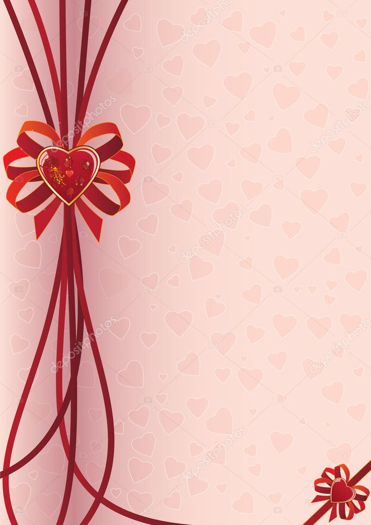 Valentine vectorbackground with heart and roses (EPS 10) — Stock Vector #7805232