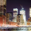 New-York skyscrapers at night — Stock Photo #6898901