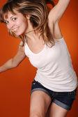 Active young teenager girl — Stock Photo