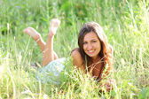 Happy young smiling woman — Stock Photo