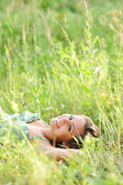 Woman resting in the park — Stock Photo