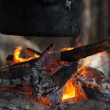 Stock Photo: On fire coals