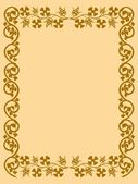 The vintage frame in the old style — Stock Vector