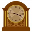 Vector de stock : Vector illustration of old floor clock