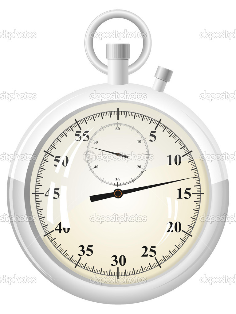 Vector illustration of a stopwatch — Stock Vector #6753234