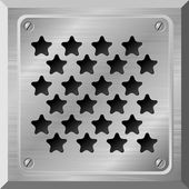 Vector illustration of a metal plate with holes in the form of s — Stock Vector