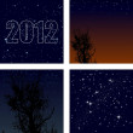 Vector set of background starry sky — Stock Vector #6947027