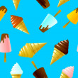 Seamless texture with ice cream — Stockvektor