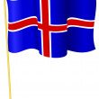 Vector illustration of the flag Iceland — Stock Vector #6966083
