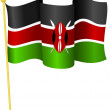 Stock Vector: Vector illustration of flag Kenya