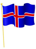 Vector illustration of the flag Iceland — Stock Vector