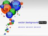 векторный фон с цветной футуристический падает — Cтоковый вектор