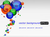 Vector background with a colored futuristic drops — Stock Vector