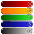 Set of color long buttons 5 — Stock Vector