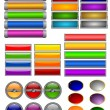 Set of color buttons 7 — Stock Vector