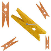 Vector illustration of Clothespin — Stock Vector