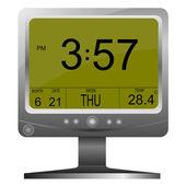 Vector electronic clock — Stock Vector