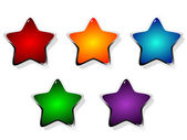 Vector illustration of colored stars — Stock Vector