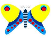 装饰蝴蝶矢量图像 — 图库矢量图片