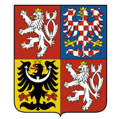 Vector image of the national emblem of the Czech — Stock Vector