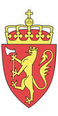 Vector national coat of arms of Norway — Stock Vector